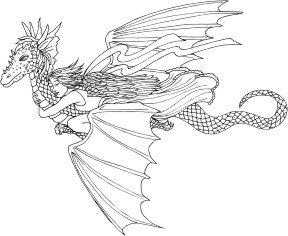 Dragon of Freedom - Flying dragon carrying an Angel