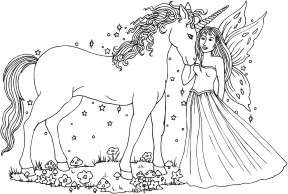 Innocence - Unicorn with Fairy Maiden