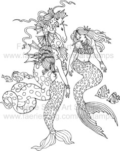 Two Mermaids and a Sea Dragon having a chat