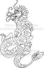 Happy looking Oriental Dragon