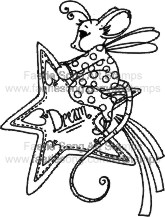 Fairy mouse riding on a shooting star
