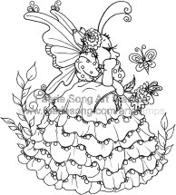 Mouse Fairy in a fancy petticoat dress
