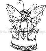 Country Mouse Fairy holiding a string of hearts