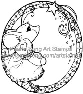 Mouse standing in a ring with stars